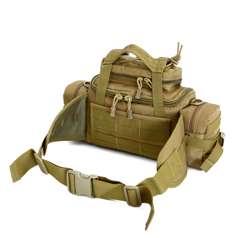 Men and women SLR cameras, waterproof nylon big waist bag purse 3 p inclined One shoulder camouflage travel bag Free shipping