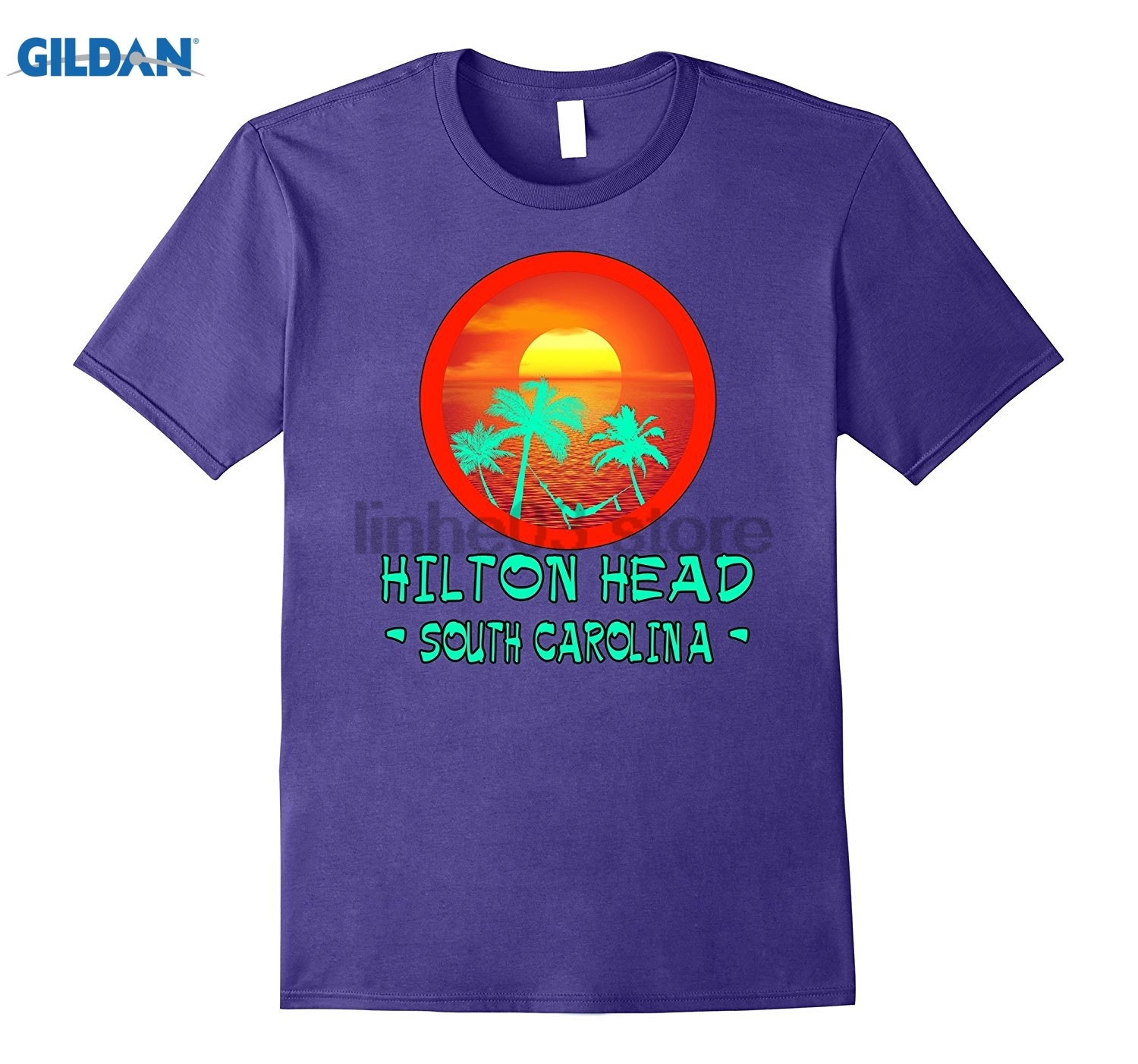 GILDAN HILTON HEAD SOUTH CAROLINA TROPICAL ISLAND VACATION GIFT TEE Dress female T-shirt ...