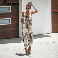 2019 New V Neck Sexy Bodysuits Women With Belt Body Femme Macacao Feminino Floral Playsuit Overalls Print Spring Summer Jumpsuit