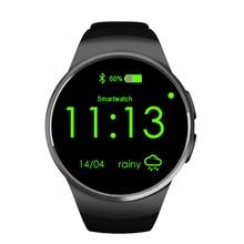 Kw18 bluetooth smart watch uhr pulsmesser unterstützung sim-karte pedometer smartwatch für iphone samsung lg android telefon