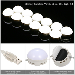 Make-up Spiegel Eitelkeit Led-lampen Kit USB Lade Port Kosmetische Beleuchteten Make-up Spiegel Einstellbare Helligkeit lichter