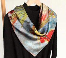 SLKSCF  90X90 CM 100% Soie Grand carré réel soie écharpe 100% soie satin  écharpes de femmes foulard livraison gratuite de5df95f0ff