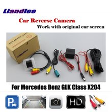 Liandlee Car Rearview Reverse Reversing Parking Camera For Mercedes Benz GLK Class X204 Display / Rear View Backup Back Camera for mercedes benz glk class x204 2013 2015 trunk handle car reverse camera rear view backup parking camera hd ccd night vision