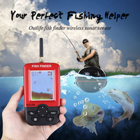 Outlife Smart Portable Fish Finder 100M Wireless Sonar Sensor Echo Sounder Fishfinder Lake Sea Fishing Sounder