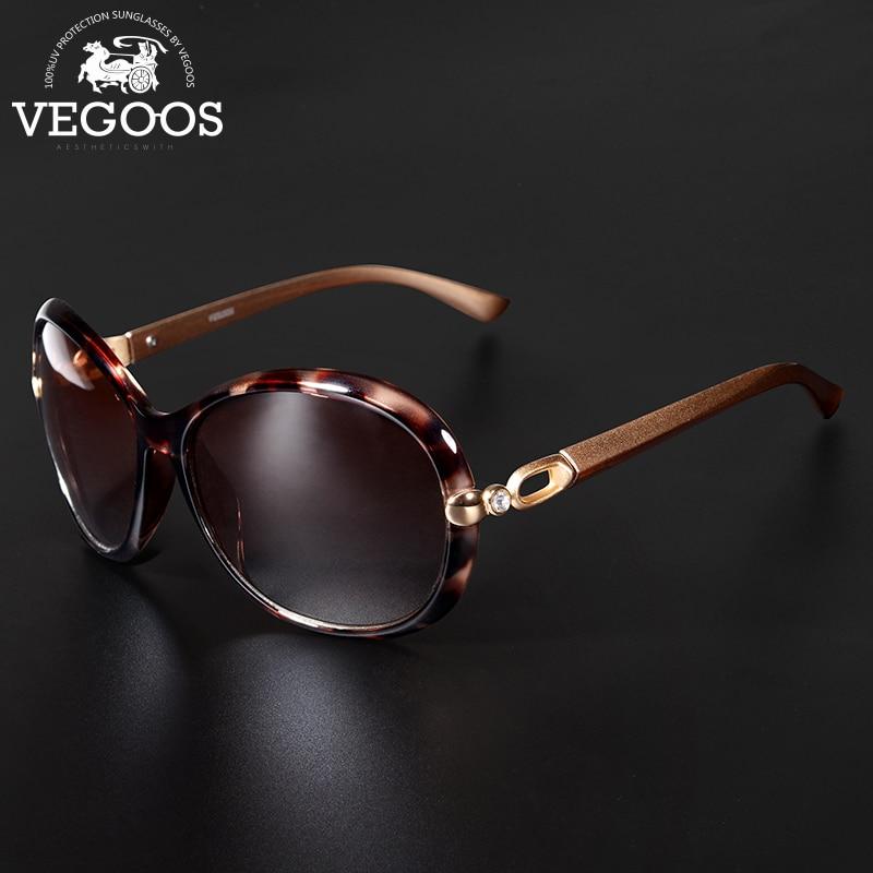 VEGOOS Luxury Brand Designer Polarized Sunglasses Sun Glasses Women New Classic Retro Oval Round Big Oculos De Sol Feminino#9021