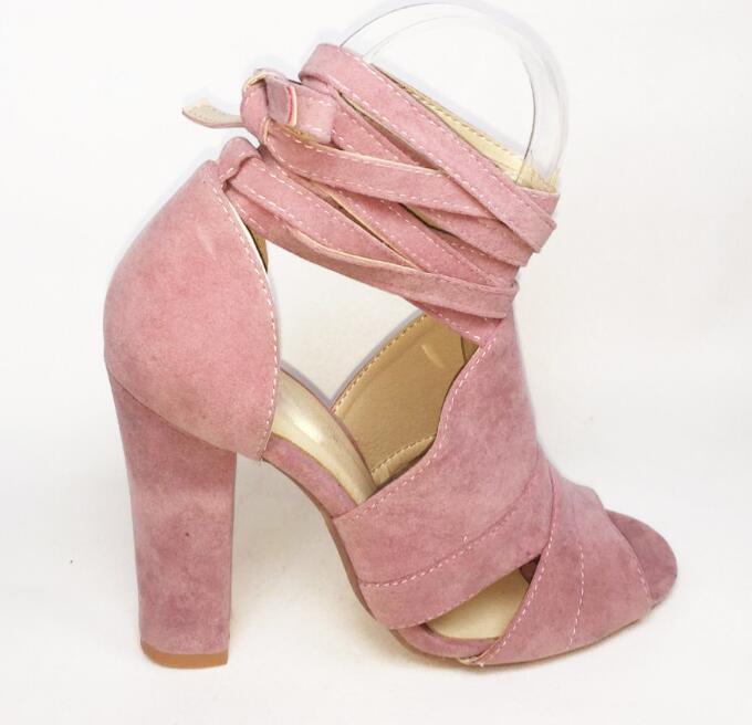 Del blue Verano Abierto F180069 Señoras Bombas Mujer Las Zapatos Sexy Dedo red Encaje Black Mujeres atado pink Altos Pie Sandalias De Tacones Los Grueso qawAC0xB