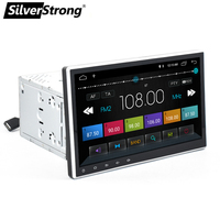 SilverStrong Latest Quad Core 2 din 10.1'' android 8.0 car dvd player universal 2din GPS Navigation Autoradio with WIFI dab cam