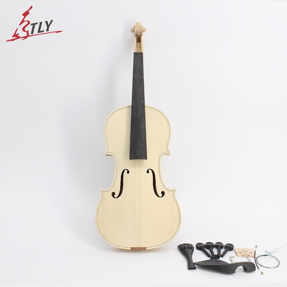 In Magazzino Della Fabbrica Incompiuto Violino Bianco Selettiva 10 Anni Secchi Naturali Acero Indietro Top In Abete Violino Fatto A Mano Full Size