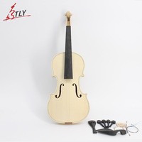 In Stock Factory Unfinished White Violin Selective 10 Years Natural Dried Maple Back Spruce Top Handmade Violin Full Size