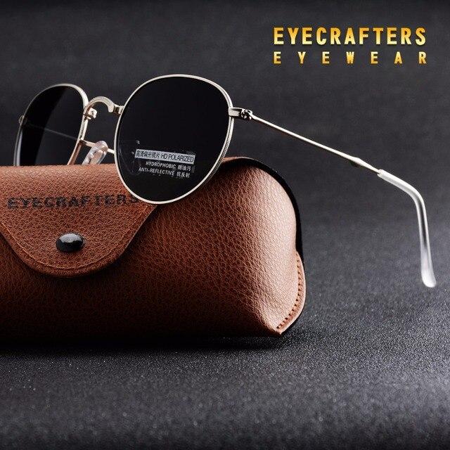 02bd05d5c8 Negro portátil plegable gafas de sol polarizadas para mujer para hombre moda  Retro Vintage Sunglasses conducción espejo gafas 3532