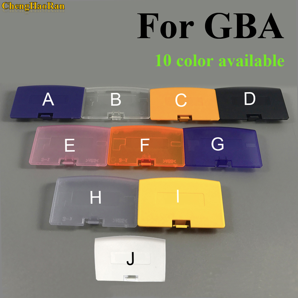 ChengHaoRan 1pcs For GBA Case Battery Cover Case Back Door Lid For Nintendo Gameboy Advance Console Repair parts Replacement