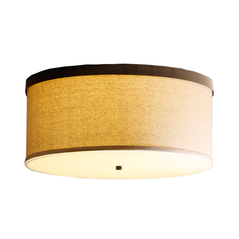 China Fabric Ceiling Lamp Round Ceiling light Classic Cloth For living room Bedroom Dining Retro Home Ceiling Lighting CA014