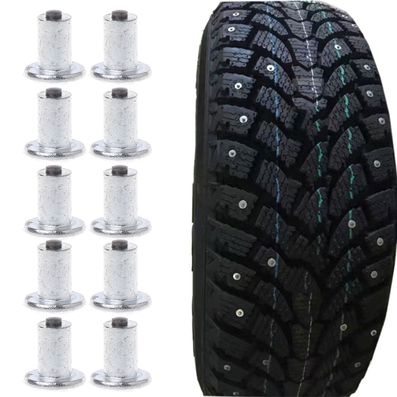 QILEJVS 100 Pcs Car Bike Tire Studs Wheel Tyre Flat Spikes Snow Winter Universal 9-10-1mm universal 100pcs lot car tires studs spikes wheel 8x11mm snow chains for car vehicle truck motorcycle tires winter