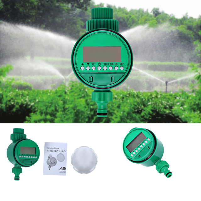 Automatic Intelligence Electronic Water Timer Rubber Gasket Design Outdoor Garden Digital Irrigation Controller Watering System
