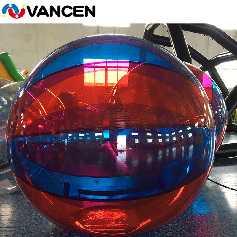 Inflatable Colorful Transparent Water Walking Ball Roll Inside Inflatable Bumper Hamster Balloon Running Bubble Ball