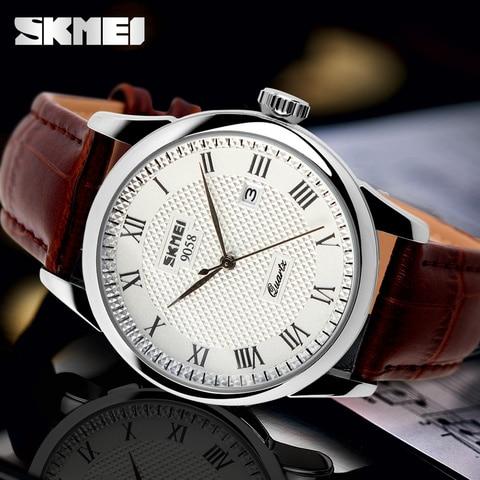 2017 SKMEI brand watches men quartz business fashion casual watch full steel date women lover couple 30m waterproof wristwatches Islamabad