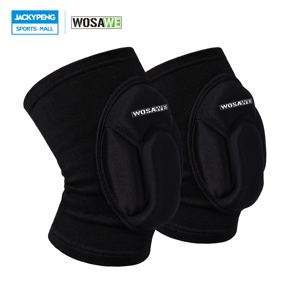 WOSAWE ONE Pair Warmth Basketball Football Sports Safety Kneepad Volleyball Knee <font><b>Pads</b></font> Knee Support Knee Protect