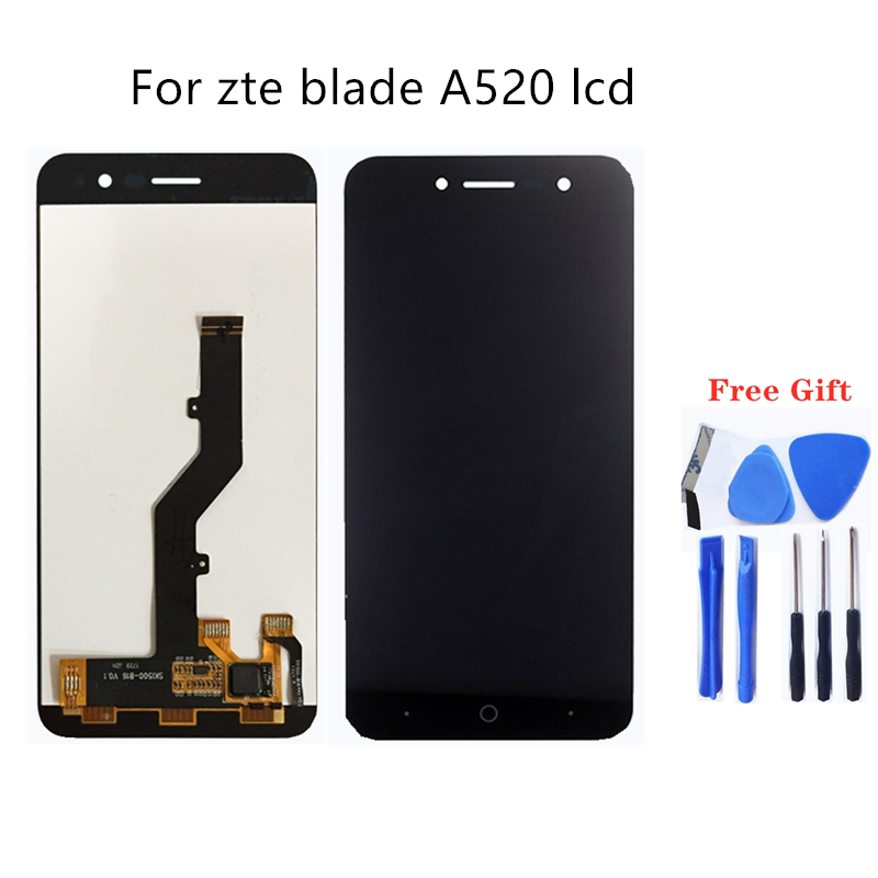 For zte blade A520 LCD display Touch screen Mobile phone LCD Display For ZTE Blade A520 Repair kit+ free too-in Mobile Phone LCD Screens from Cellphones & Telecommunications