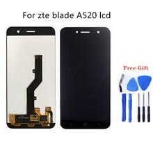 Zte blade ため A520 lcd ディスプレイタッチスクリーンの携帯電話液晶ディスプレイ zte blade A520 修理キット + 送料あまりにも
