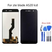 עבור zte blade A520 LCD תצוגת מסך מגע נייד טלפון LCD תצוגה עבור zte blade A520 ערכת תיקון + משלוח מדי