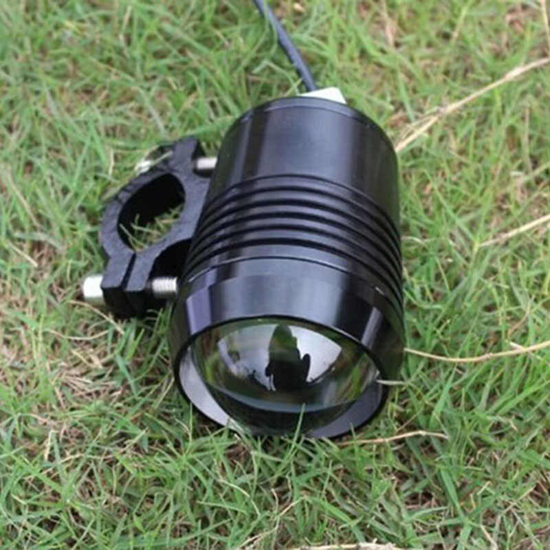 1pcs Motorcycle U2 LED Headlights Motorbike Spotlight moto bike fog Lights 12v 6500K 1200LM Headlamp auxiliary Driving Lamp DRL