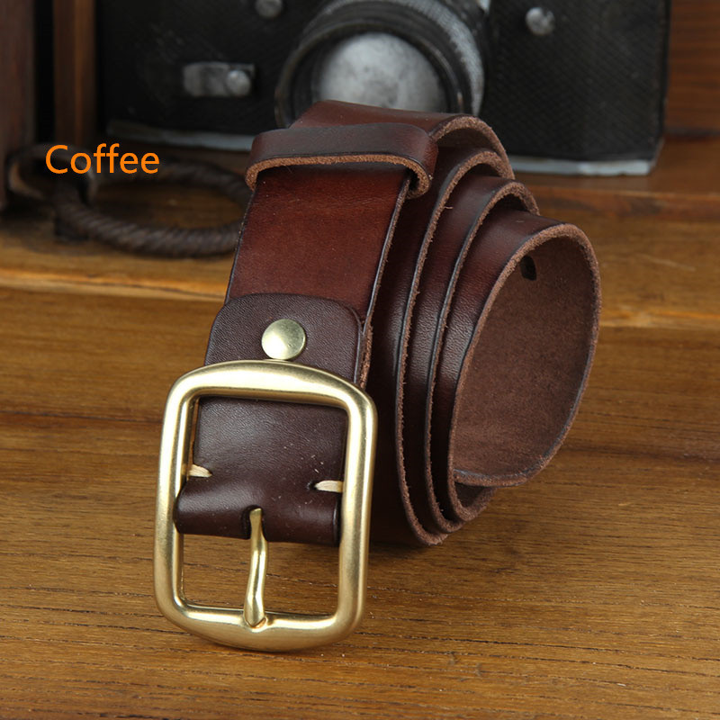 Leather Belt Pure Cowhide Anese Buckle Ancient Ways Wash Technology Male Cowskin Men New Punk Modis Seat Belts Maternity From Chuancai