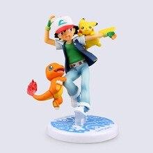 Anime Pokemon Ash Ketchum Charmander Pikachu Pokemon Toys Juguetes PVC Action Figure Pokemon Figures Model Kids Toys