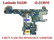 CN-0JMVDX FOR DELL E6330 Laptop Motherboard JMVDX LA-7741P I3-3130M Mainboard 90Days Warranty 100% tested