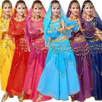 4pcs Sets India Egypt Belly Dance Costumes Bollywood Costumes Indian Dress Bellydance Dress Lady Belly Dancing
