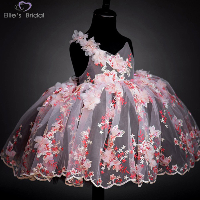 Ellies Bridal 2018 New Lace Children's Dresses Party Dress Girl Flower Dress Girl Children Wedding Party Prom Custom For 3-11T muqgew new fashion 2018 children party