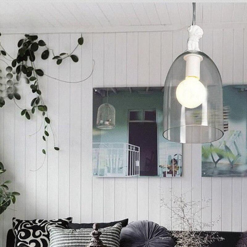 купить Nordic Creative Resin Bird Restaurant Pendant Light Concise Glass Hanging Lamp Study Aisle With Led Bulbs Free Shipping недорого