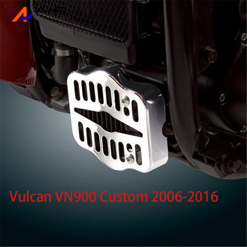 Motorcycle Blade Polished Stainless Rectifier Grill Guard Protector For 2006 - 2016 <font><b>Kawasaki</b></font> <font><b>Vulcan</b></font> 900 <font><b>VN900</b></font> Custom Classic image
