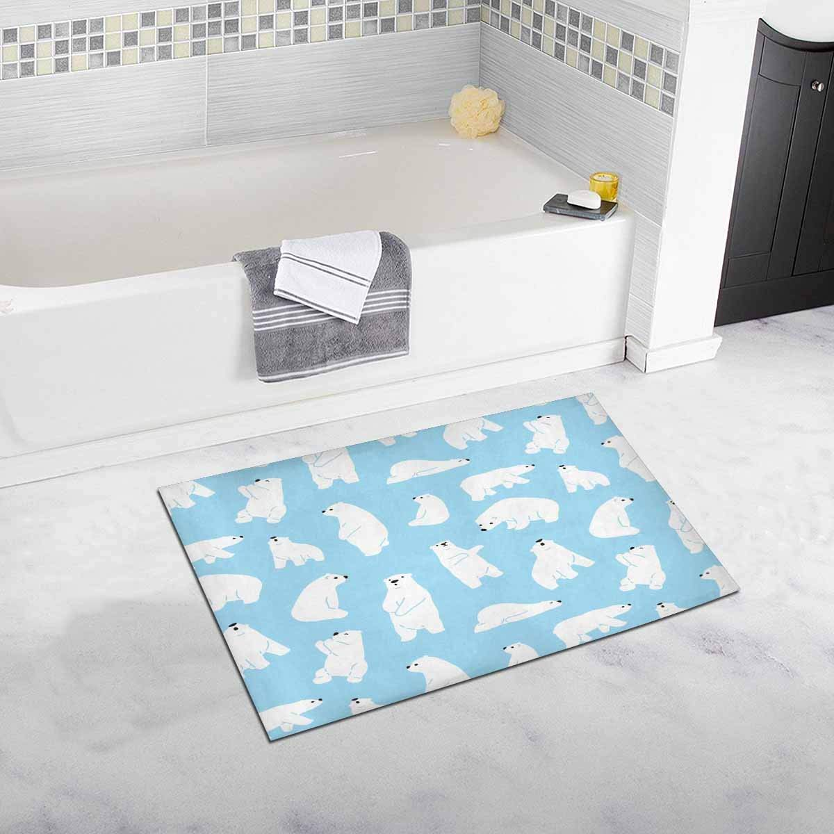 Bear Polar Soft Shaggy Bath Mat