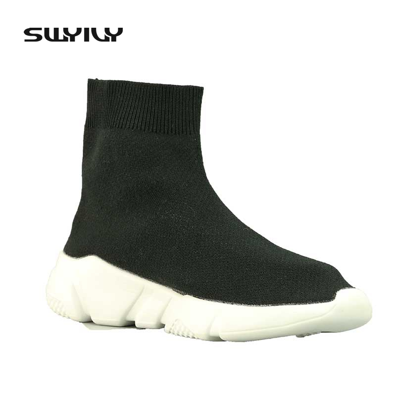 Flexible Tejido Bottom Verano Soft Botas Negro 43 Transpirable Tobillo 44 Calcetines Mujer Tamaño Más Casual Stretch 2017 Calcetín Zapatos xdvqtwtB