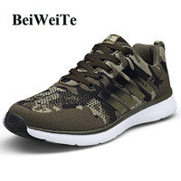 Men's Sneakers Running Shoes Camouflage Breathable Training Shoes For Male 2018 New Arrival Outdoor Jogging Walk Tourism Shoes