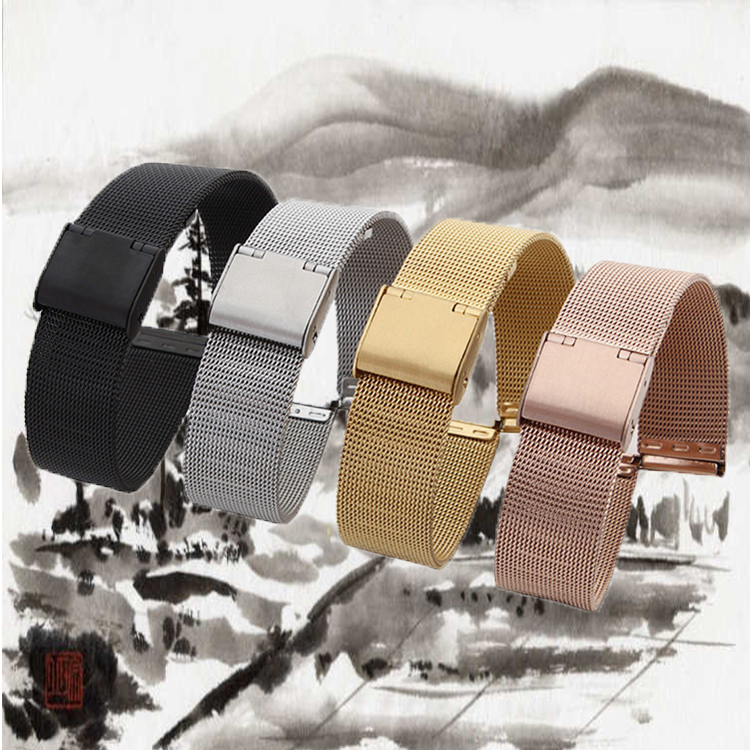 18mm 20mm 22mm 24mm Universal Milanese Watchband Mesh Stainless Steel Watch Band For DW Bracelet with