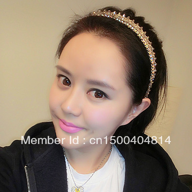 A-core all-match sparkling synthetic diamond hair bands