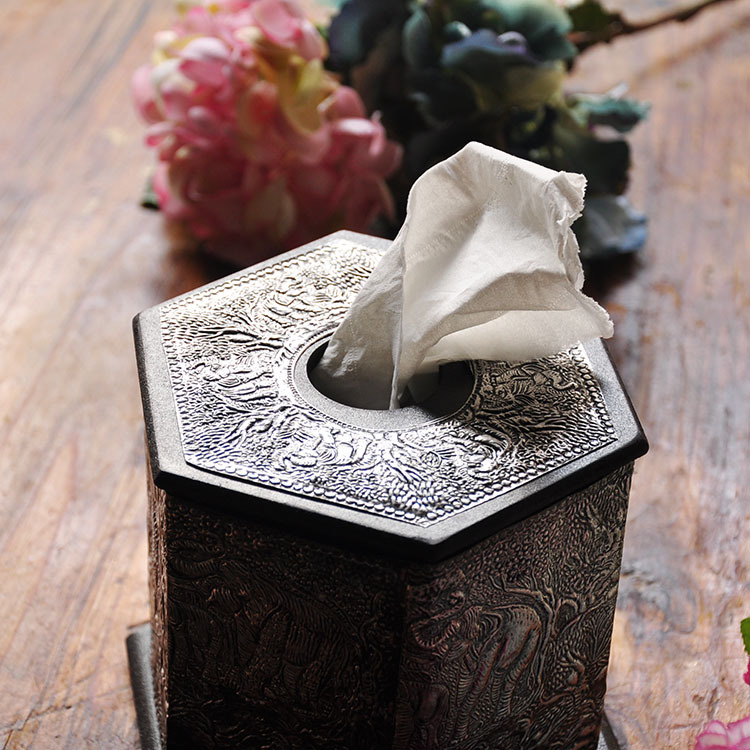 Thai crafts Southeast Asian specialties wooden hearth square tin sheet tin  sheet paper towel tube tissue box pumping tray on Aliexpress.com | Alibaba  Group