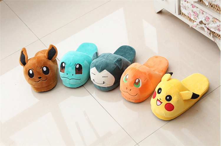 Novelty & Special Use Huolun New Winter Home Cotton Warm Plush Slippers Cute Cartoon Pokemon Pocket Monster For Pikachu Lovers Shoes