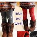 Милый кролик теплая зима новорожденных девочек леггинсы серый красный девочек legins брюки панталоне infantil осень толщиной pantalon нины де verano