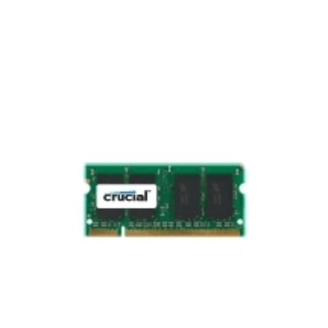 Crucial 4 GB DDR2 SODIMM, 4 GB, 1x4 GB, DDR2, 800 mhz, 200-pin SO-DIMM, Verde