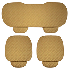 3PCS/Set Universal Car Front Back Rear Seat Cover Breathable PU Leather Pad Mat Cushion For 5 Seat Auto Chair Seat Cushion