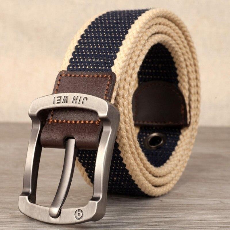 Военный ремень с пряжкой для спорта на открытом воздухе, тактический ремень для мужчин и женщин, высококачественные холщовые ремни для джинсов, мужские роскошные повседневные ремни - Цвет: Navy blue wide strip