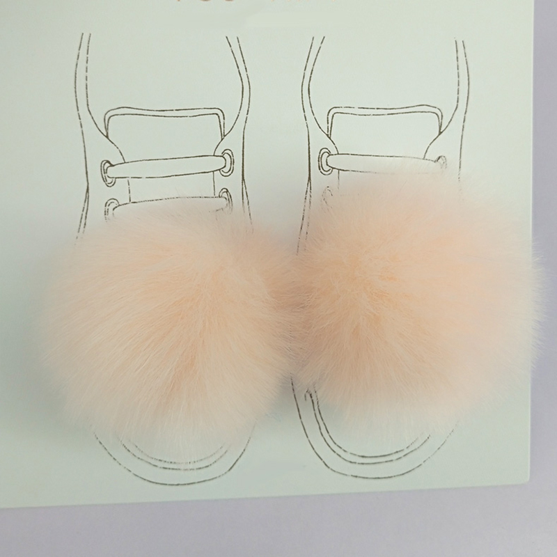 A Pair of Shoes Clips Puffy Ball Pom Poms for diy Canvas Shoes Accessories Creative Handmade Gifts Personalized Fashion Decor
