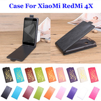 5 0 9 Color Golden Flowers High Quality For XiaoMi RadMi 4X Cover Leather Case Flip