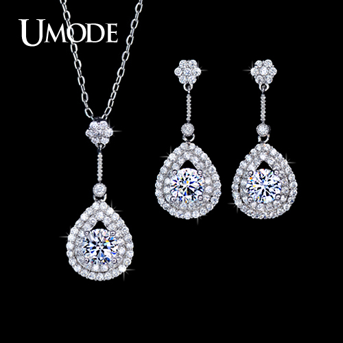 font b UMODE b font Bridal Wedding Jewelry Set Including 1 Pair Fashion Drop font