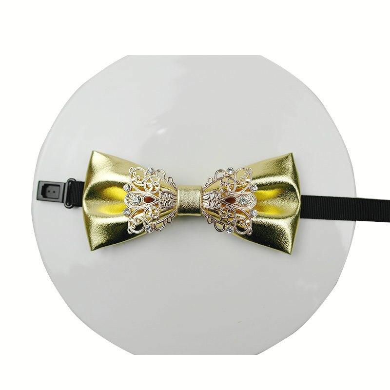 Mode Gefälschte Kragen Hisdern Krawatten Strass Bogen Krawatten Leder Männer Luxus Männer Zubehör Herren Krawatten Set