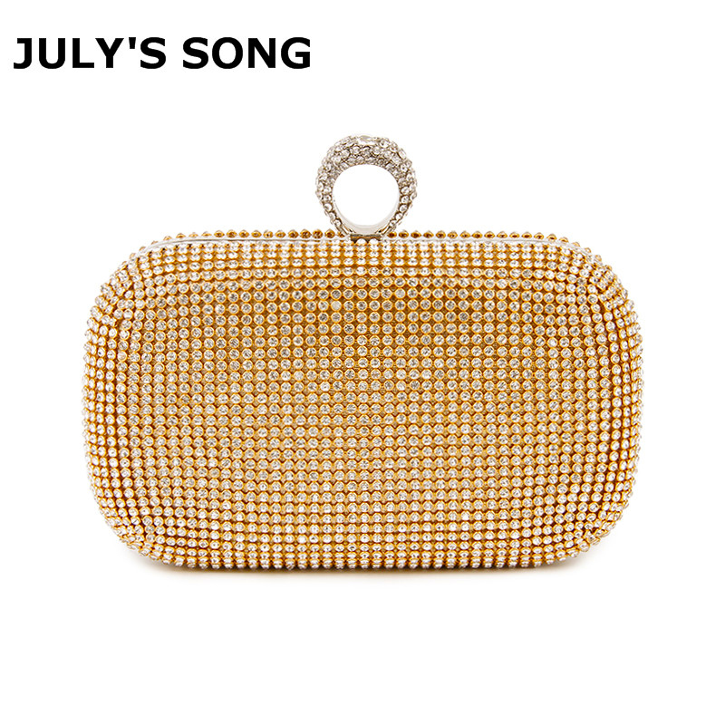 Evening Clutch Bags Diamond-Studded Evening Bag With Chain Shoulder Bag Women's Handbags Wallets Evening Bag For Wedding Party(China)