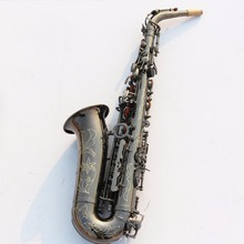 Sax instruments Eb flat black nickel light alto saxophone The special offer shipping high-grade carved beginner instru