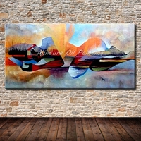 Mintura Art Hand Painted Abstract Landscape Oil Painting on Canvas Modern Abstract Pictures Wall Decor For Living Romm No Frame